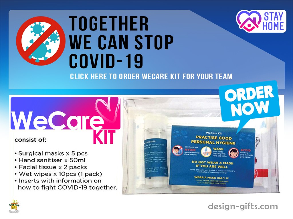 COVID-19, wecare kit, we care kit, hand sanitiser, hand sanitizer, surgical mask, anti bacteria wet wipes